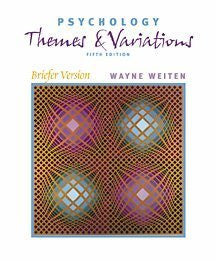 Psychology: Themes and Variations, Briefer Version (Paperbound Edition with InfoTrac)