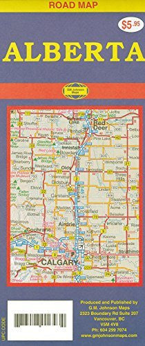 Alberta (Canada) 1:1,428,500 Travel Map with city plans GMJ