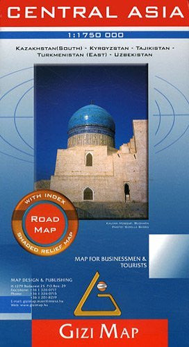 Central Asia Road Map - Southern Kazakhstan, Kyrgyzstan, Tajikistan, Turkmenistan (East), Uzbekistan (English and French Edition) by Gizi (2010-07-22)