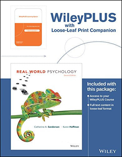 Real World Psychology, 2nd Edition WileyPLUS Learning Space Registration Card + Loose-leaf Print Companion