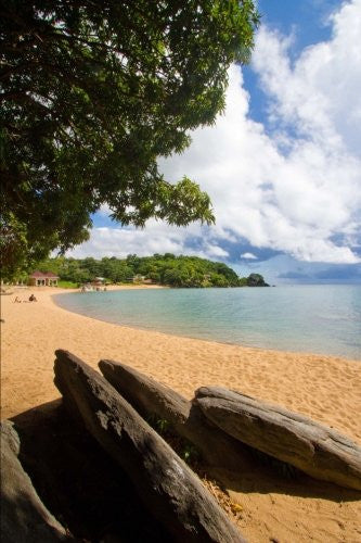 Private Sandy Beach in Nkhata Bay Lake Malawi Journal: 150 page lined notebook/diary