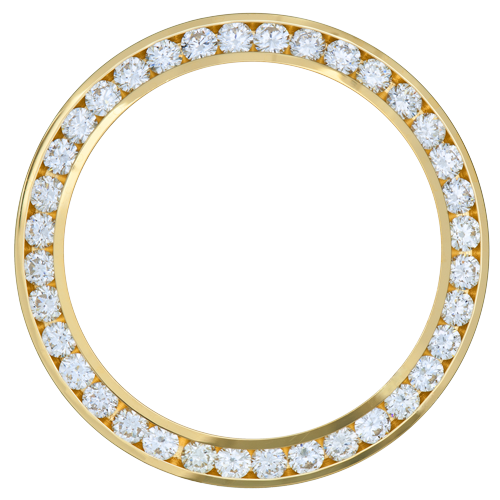 18K YELLOW GOLD 0.90CT LADIES 26MM CHANNEL SET DIAMOND BEZEL