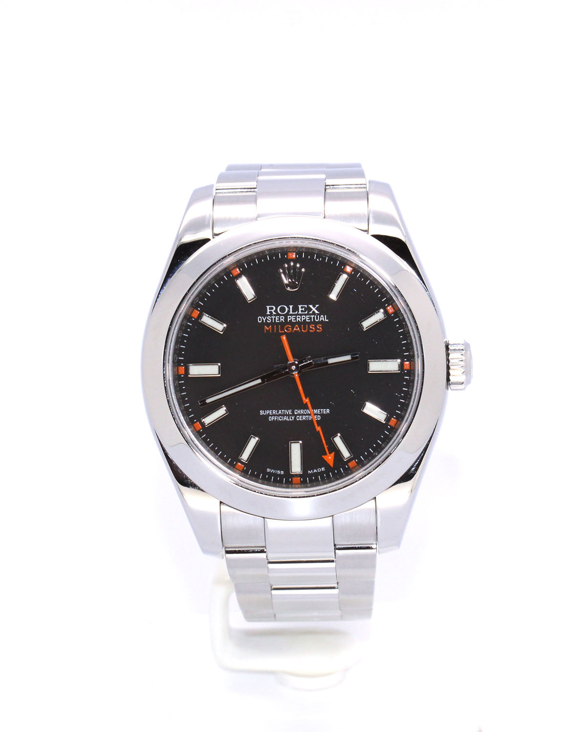 PREOWNED ROLEX MILGAUSS BLACK 116400 40MM MINT