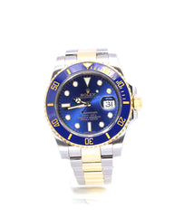 ROLEX SUBMARINER DATE CERAMIC 116613LB BLUE SUNBURST