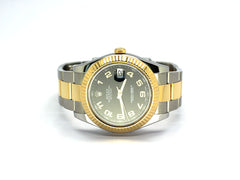 PRE OWNED ROLEX DATEJUST II REF 116333 BLACK ARABIC