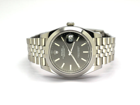 ROLEX DATEJUST II 126300 JUBILEE BLACK INDEX 41MM