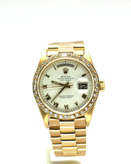 ROLEX PRESIDENT 18038 YELLOW GOLD WHITE ROMAN