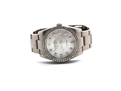 ROLEX AIR KING 114200 MOP DIAMONDS 34MM