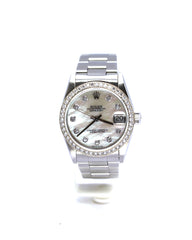 MID-SIZE ROLEX OYSTER PERPETUAL DATEJUST MODEL 68240
