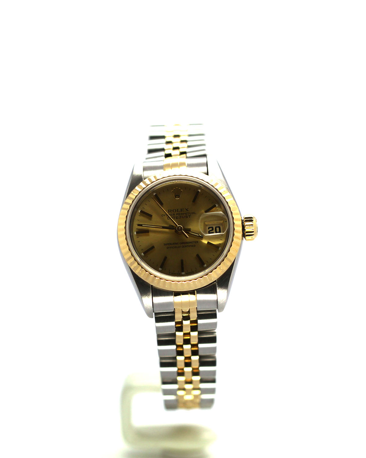 ROLEX DATEJUST 69173 TWO TONE CHAMPAGNE STICK JUBILEE