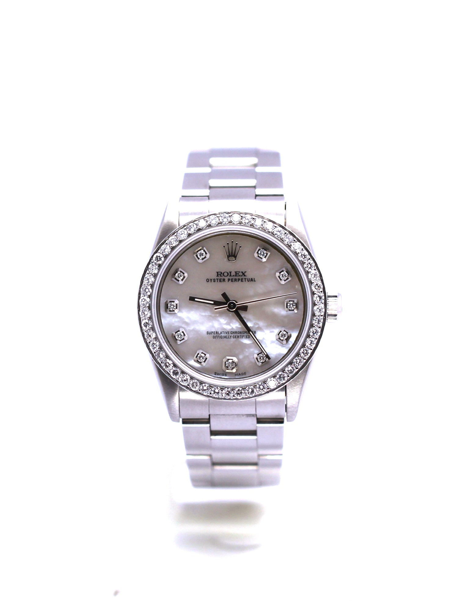 ROLEX OYSTER PERPETUAL 31 STAINLESS STEEL DIAMONDS