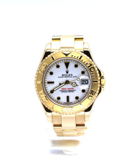 MID-SIZE ROLEX YACHT-MASTER 168628 YELLOW GOLD OYSTER