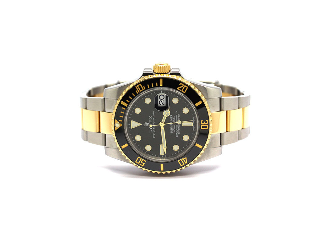 USED MEN'S ROLEX SUBMARINER 116613 LUMINESCENT BLACK DIAL