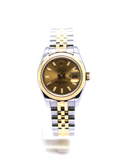 PREOWNED ROLEX DATEJUST CHAMPAGNE INDEX 26 179173