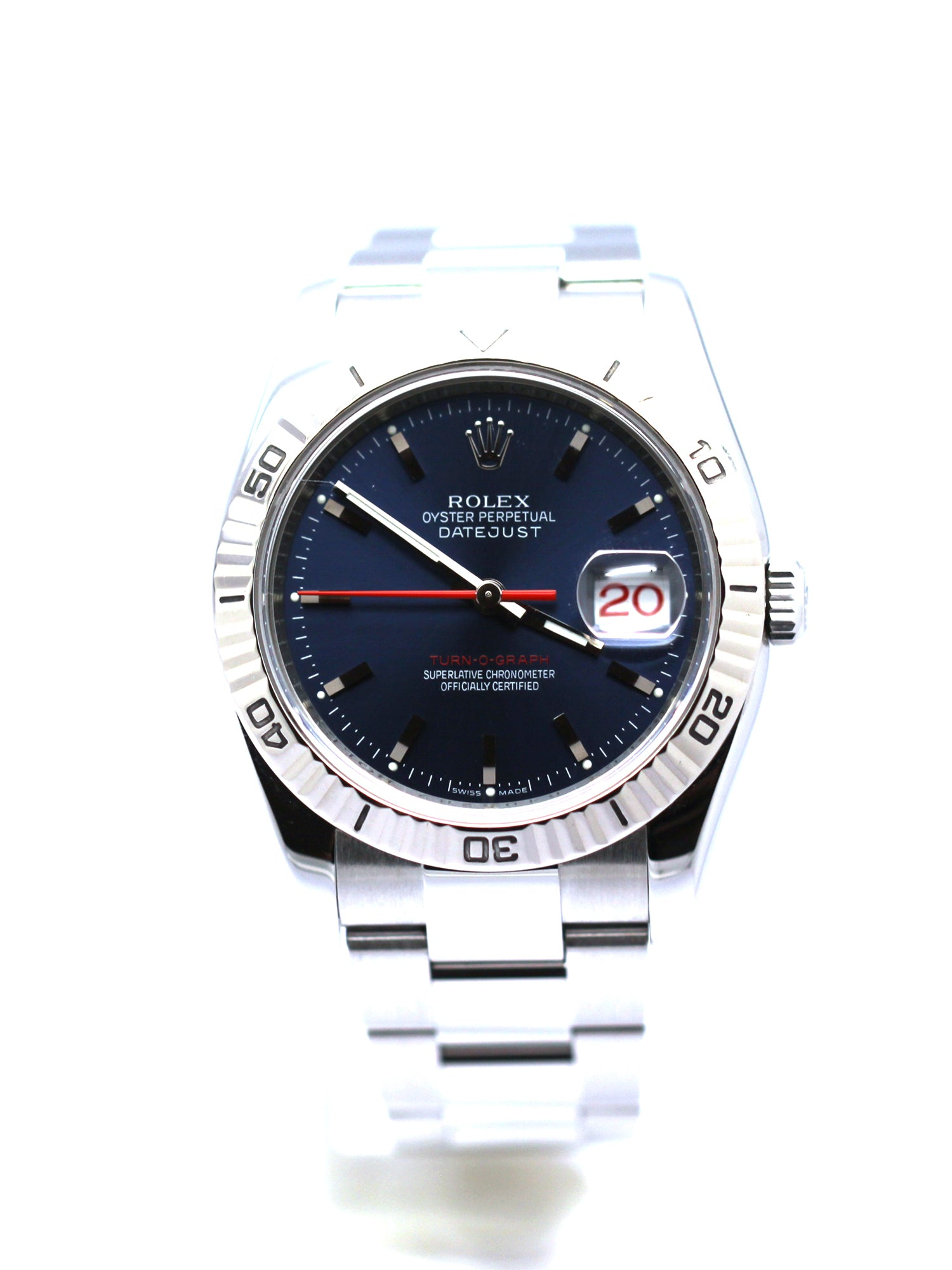PREOWNED ROLEX DATEJUST THUNDERBIRD 116264 BLUE