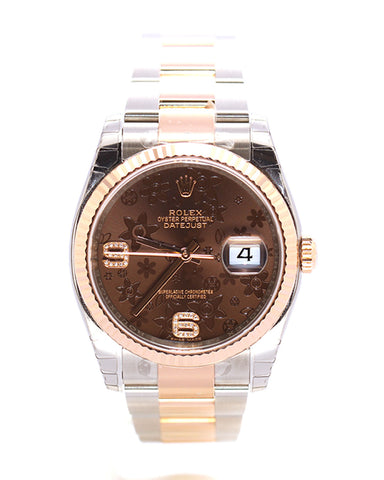 ROLEX DATEJUST 116231 GOLD 36MM DIAMONDS
