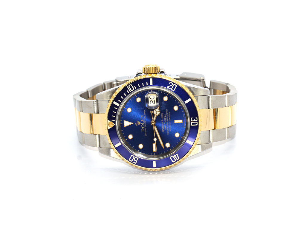 ROLEX SUBMARINER DATE TWO-TONE BLUE 16613 40MM