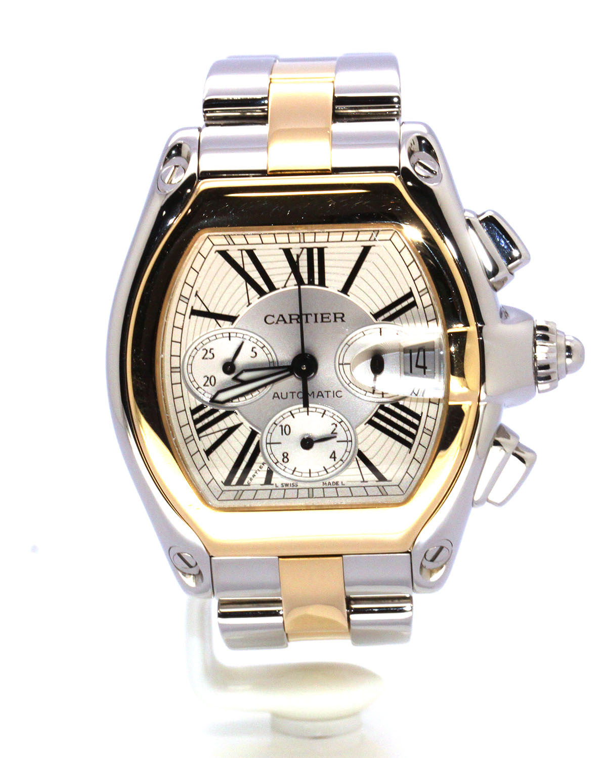 CARTIER ROADSTER TWO-TONE ROMAN NUMERAL