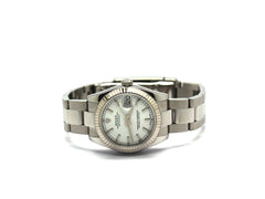 USED ROLEX DATEJUST MIDSIZE WHITE 178274