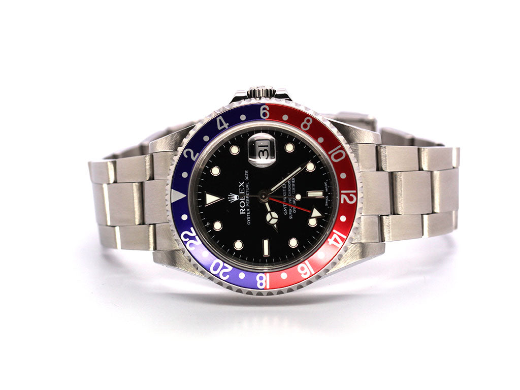 ROLEX GMT-MASTER II 16710LN  PEPSI, SS OYSTER 40MM CIRCA 2000