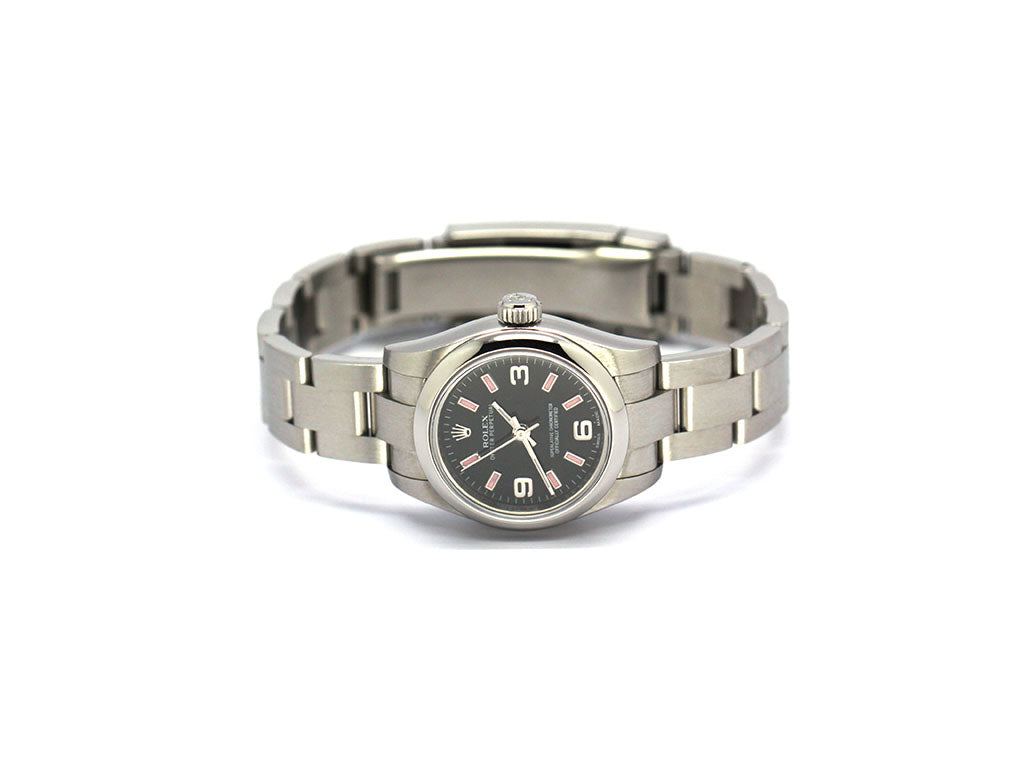 ROLEX OYSTER PERPETUAL 176210 BLACK AND PINK
