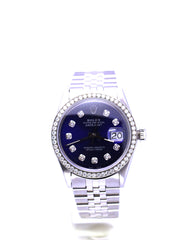 ROLEX DATEJUST SS 16014 BLUE DIAMOND 36MM