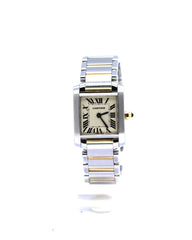 CARTIER TANK FRANCAISE SMALL TWO-TONE 2384