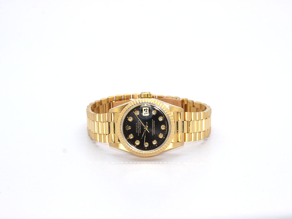 USED ROLEX PRESIDENT 79178 BLACK DIAMOND DIAL