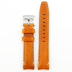 Everest Curved End Leather Strap with Tang Buckle for Rolex Sea-Dweller