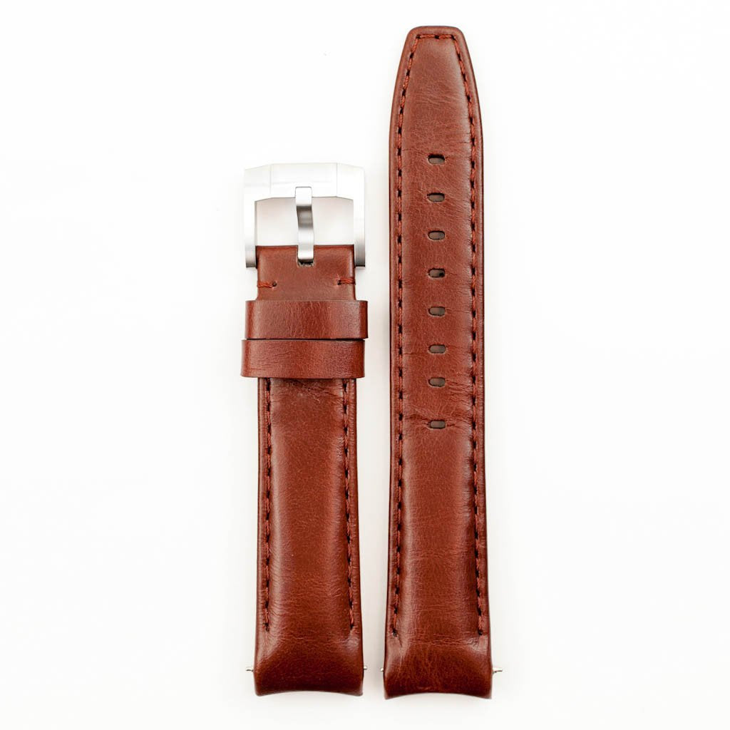 Everest Curved End Leather with Tang Buckle for Rolex Oyster Perpetual 39mm