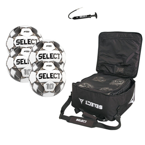 Numero 10 Pack - 4 Balls with Coaches Match Day Bag and Pump