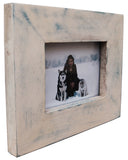 White and Blue Wash Picture Frame 4x6 5x7