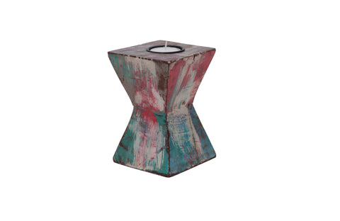 Multi-Colored Tea Light Candle Holder