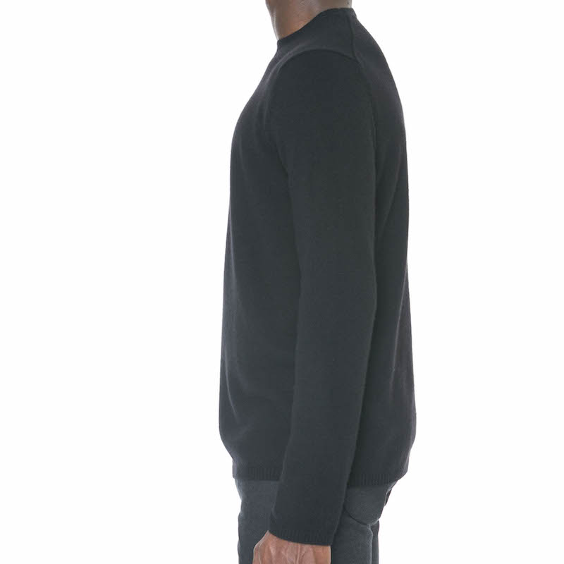 Black Cashmere/Wool Crewneck Sweater - Sydney's, Toronto, Bespoke Suit, Made-to-Measure, Custom Suit,