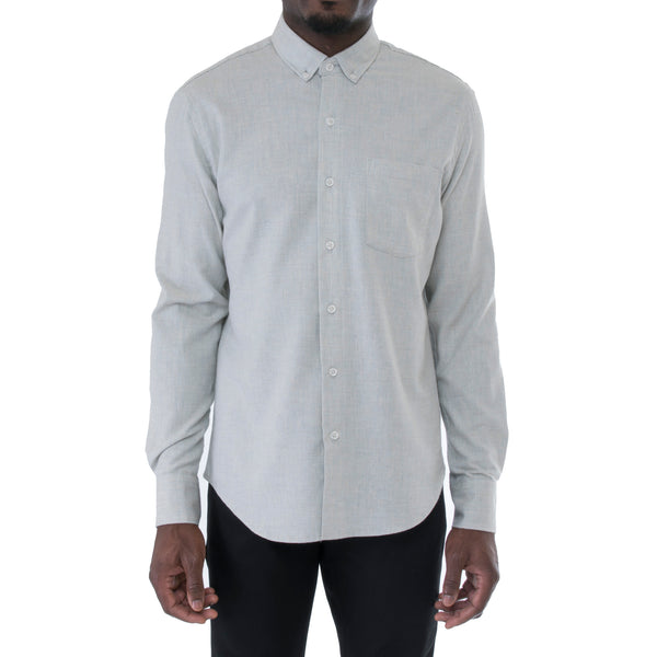 Light Grey Herringbone Shirt