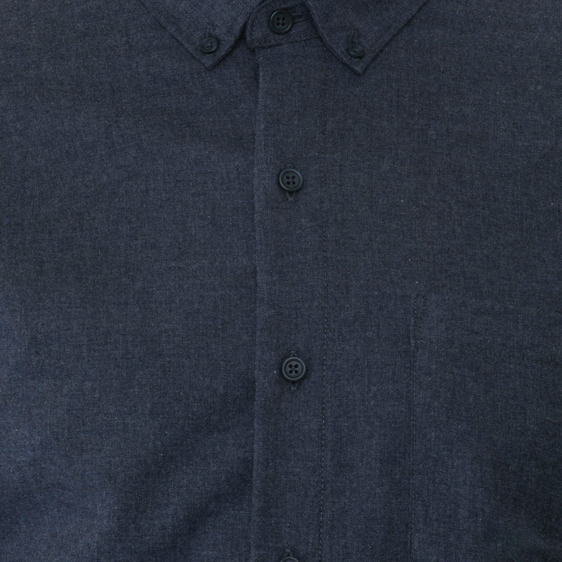 Navy Light Flannel Shirt - Sydney's, Toronto, Bespoke Suit, Made-to-Measure, Custom Suit,
