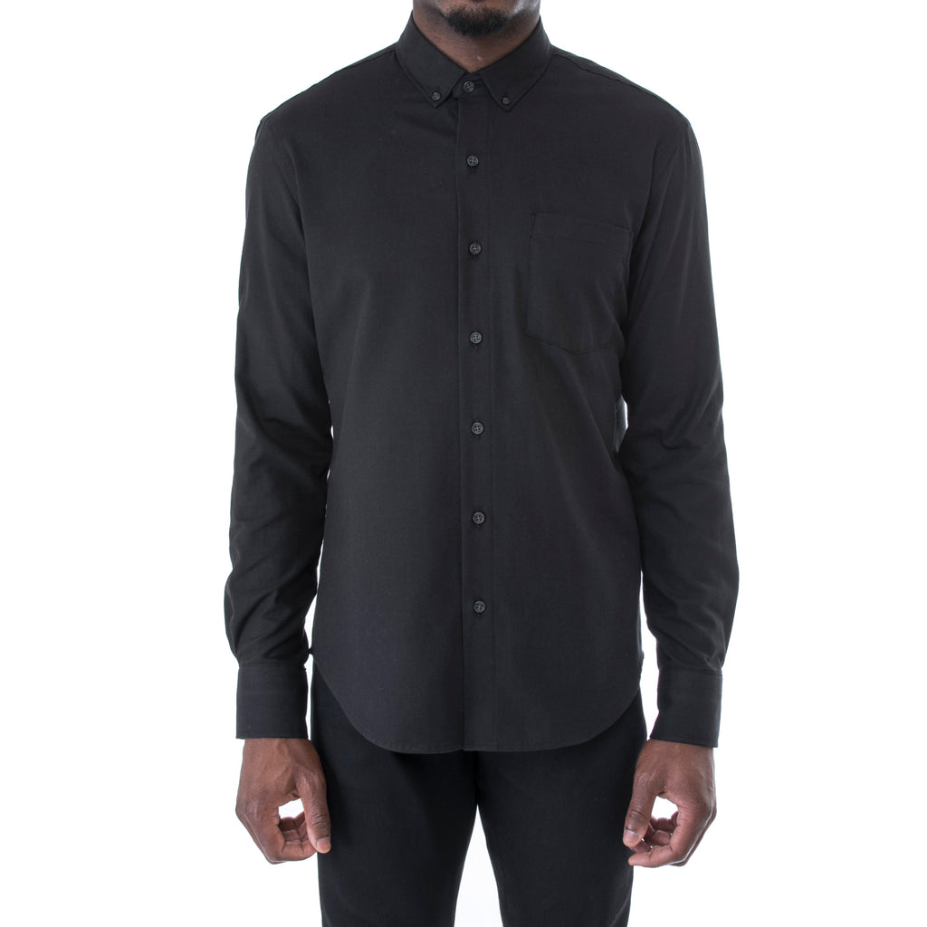 Black Twill Shirt - Sydney's, Toronto, Bespoke Suit, Made-to-Measure, Custom Suit,