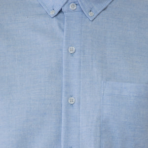 Light Blue Flannel Pique Shirt - Sydney's, Toronto, Bespoke Suit, Made-to-Measure, Custom Suit,