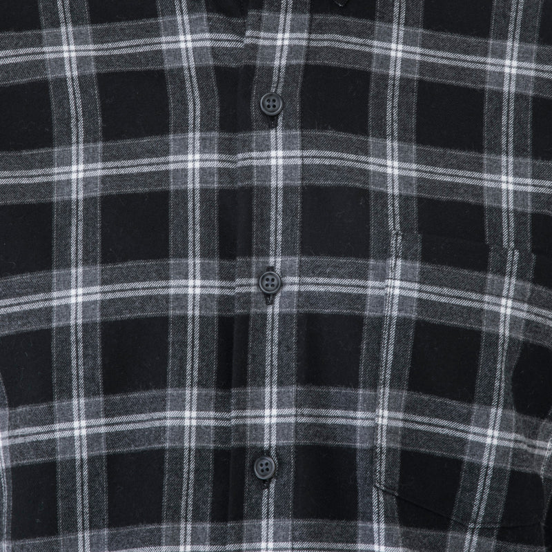 Black Plaid Flannel Shirt - Sydney's, Toronto, Bespoke Suit, Made-to-Measure, Custom Suit,