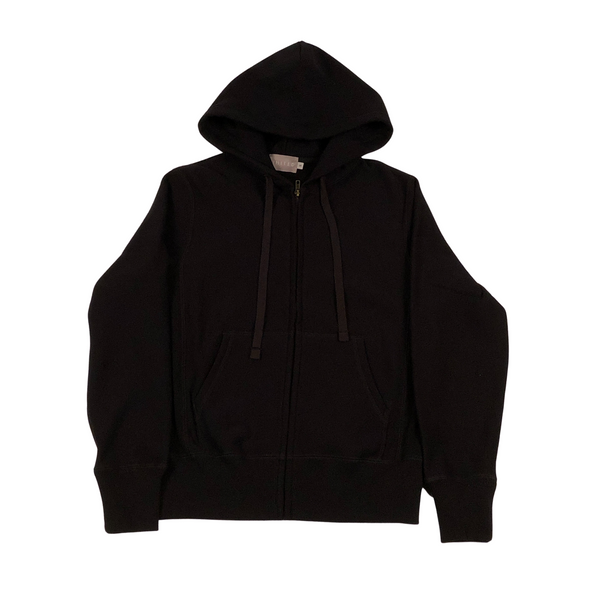 Black 20 oz Cotton Terry Full Zip Hoodie
