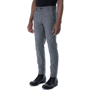 Grey Nep Stretch HT Chino Trouser - Sydney's, Toronto, Bespoke Suit, Made-to-Measure, Custom Suit,