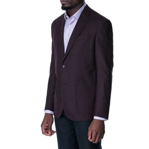 Bordeaux Melange Sport Jacket - Sydney's, Toronto, Bespoke Suit, Made-to-Measure, Custom Suit,