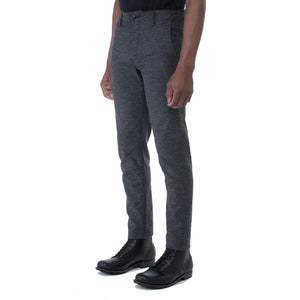 Charcoal Nep Stretch HT Chino Trouser - Sydney's, Toronto, Bespoke Suit, Made-to-Measure, Custom Suit,