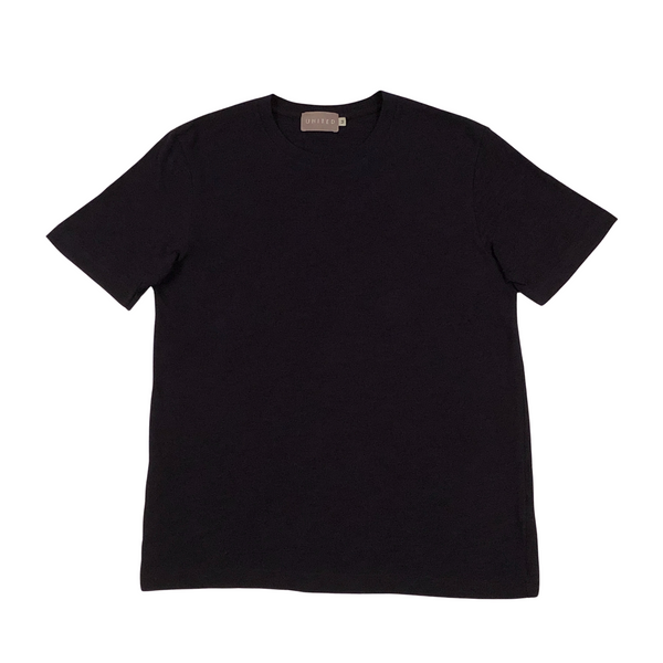 Midnight Navy Cotton Slub Crewneck T-Shirt