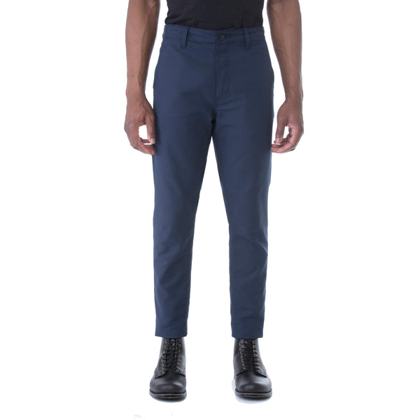 Navy Dobby HT Chino Trouser - Sydney's, Toronto, Bespoke Suit, Made-to-Measure, Custom Suit,