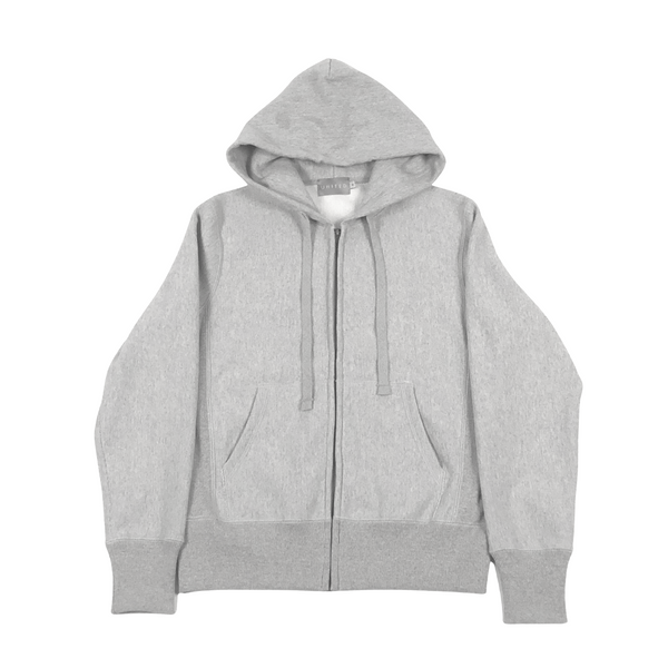 Grey Melange 20 oz Cotton Terry Full Zip Hoodie