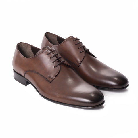 Black Monk Strap Cap Toe Leather Shoes