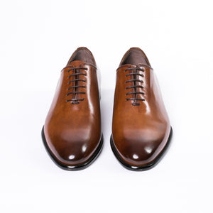 Burnished Tobacco Wholecut Oxford Dress Shoes - Sydney's, Toronto, Bespoke Suit, Made-to-Measure, Custom Suit,