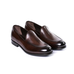Burnished Brown Leather Loafer - Sydney's, Toronto, Bespoke Suit, Made-to-Measure, Custom Suit,