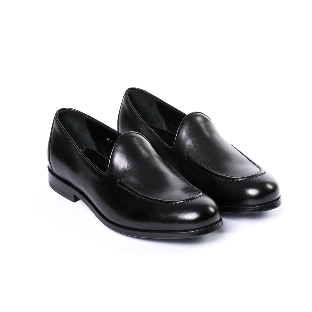 Black Leather Loafer - Sydney's, Toronto, Bespoke Suit, Made-to-Measure, Custom Suit,